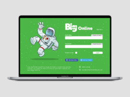 Big Maths website log in page on MacBook Pro