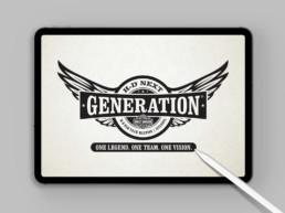 Harley Davidson Generation logo on iPad Pro