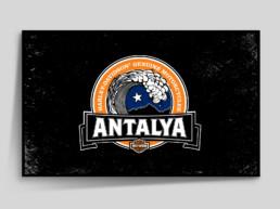 Harley Davidson Antalya logo framed
