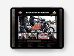 Harley Davidson website design online store on iPad Pro